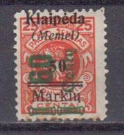 Memel Klaipeda 1923 Occupation Lituanienne Yvert 180 * Neuf Avec Charniere. - Lituania