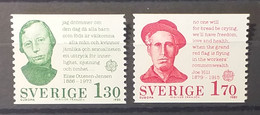 Sweden - 1980 - MNH As Scan - Famous People - 2 Stamps - (RP) - Ongebruikt