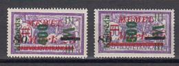 Memel 1923 Occupation Lituanienne Yvert 114 * Et 115 * - Lituania