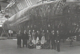 Postcard - National History Museum - Staff Posing With Blue Whale Model, January 1938 New - Musées