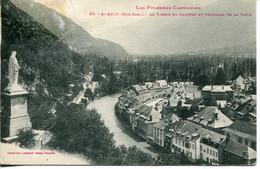 CPA - SAINT-BEAT - VIERGE DU CHATEAU ET PANORAMA DE LA VILLE - Andere Gemeenten