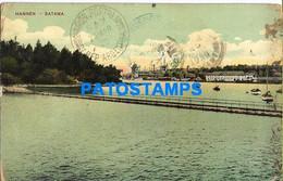 151632 FINLAND HAMNEN SATAMA VIEW BRIDGE CIRCULATED TO ARGENTINA POSTAL POSTCARD - Finnland