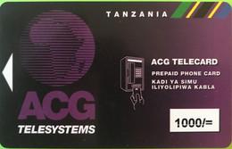 TANZANIE  -   Recharge   -  ACG TELESYSTEMS  -  1000/= - Tanzania