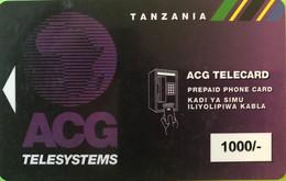 TANZANIE  -   Recharge   -  ACG TELESYSTEMS  -  1000/- - Tanzania