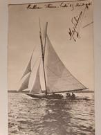 VOILIER CARTE ECRITE 1908 - Segelboote