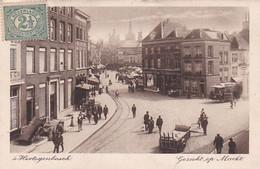 4842185'S Hertogenbosch, Gezicht Op Markt. 1915. (zie Hoeken En Randen) - 's-Hertogenbosch