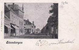 4842188Steenbergen, Postkantoor En Stadhuis. (poststempel 1901)(zie Hoeken En Randen) - Other