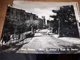 CARTOLINA SEZZE ROMANO CHIESA SANT'ANDREA E VIALE DEI MARTIRI VIAGGIATA 1952 - Frosinone