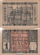 Berlin Notgeld: 92.3 Notgeld Berlin 6. 1877 Berliner Strassenlokomotive Gebraucht (III) 1922 2 Mark Berlin Straßenbahng - Andere