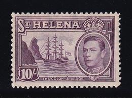 ST. HELENA 1938  SG 140 10/-  MLH  VERY FINE SUPERB STAMP - Isla Sta Helena