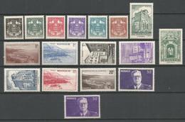 Timbre Monaco En Neuf **  N  249/264 + N 264a  Série Compléte - Unused Stamps