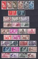 GUINEE ESPAGNOLE - 1951/ - YVERT N° 328/ COMPLET SAUF 368/370 * MLH - COTE = 86 EUR. - CHARNIERE TRES LEGERE - 3 PAGES ! - Guinea Spagnola