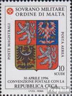 Malteserorden (SMOM) Kat-Nr.: 608 (kompl.Ausg.) Postfrisch 1996 Tschechien - Malte (Ordre De)