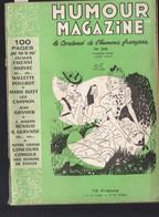 Revue HUMOUR MAGAZINE  N°26..1952 Avec à L'intérieur 1 Dessin De POULBOT(M1704) - Humour