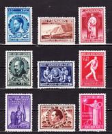 1946 Nr 728-36* Met Scharnier.Culturele Werken.OBP 11,25 Euro. - Unused Stamps