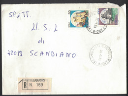 IK200    Storia Postale 1983 Racc. Castellarano Castelli £.1000 + £.50 - 1981-90: Poststempel