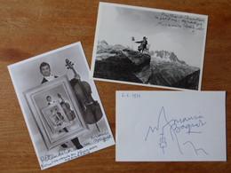 3 Autographes Sur Photo  Acteur Maurice BAQUET - Autografi