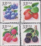 USA 3110I BH-3113I BH (kompl.Ausg.) Postfrisch 1999 Früchte - Unused Stamps