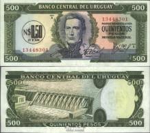 Uruguay Pick-Nr: 54 Bankfrisch 1975 0.50 Nuevo Peso On 500 Pesos - Uruguay
