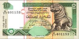 Sri Lanka Pick-Nr: 108a Bankfrisch 1995 10 Rupees - Sri Lanka