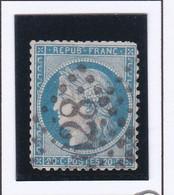 GC 628 BRIEC DE L'AUDET ( Dept 28 Finistère ) S / N° 37 Indice Baudot S / L : 15 Soit 160€ Défaut De Dentelure Aux Coins - 1849-1876: Classic Period