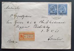 Albanien 1914, Reko Brief SHKODER(Albanien) Paar Mi 44, Signiert - Albania