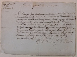 REVOLUTION. AN 2 .HOPITAL CIVIL ET MILITAIRE DE COUTANCES . INCAPABLE DE SERVIR ! - Historische Dokumente