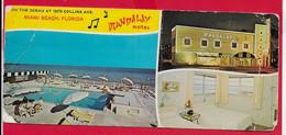 CARTOLINA VG STATI UNITI - FLORIDA - Miami Beach - Mandalay Motel - 9 X 21 - 1961 TASSATA - Miami Beach