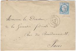 TIMBRES N° 60/1;  LETTRE ; VARIÉTÉ TRÈS PARTICULIÈRE ET  RARE ; DESSUS DE LA TÊTE BLANCHE TBB - 1871-1875 Ceres
