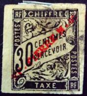 Saint Pierre Et Miquelon 1893 Taxe Tax Surchargé Overprinted ST-PIERRE M-ON Yvert 5 O Used - Portomarken