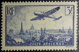 FRANCE Y&T N°12 Variété (voir Filet Du Cadre Intérieur Nord Est Brisé+++). Poste Aérienne 3Fr. Outremer Neuf* - 1927-1959 Nuevos