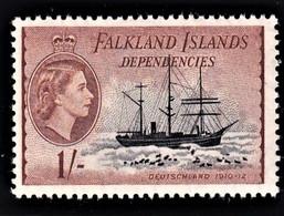 FALKLAND ISLANDS DEPENDENCIES 1954   SG G35   MLH*   VERY FINE SUPERB STAMP - Falkland