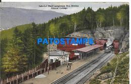151662 GERMANY BAD LANGENAU STATION TRAIN CIRCULATED TO ARGENTINA POSTAL POSTCARD - Sin Clasificación