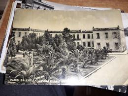 CARTOLINA CAMPI SALENTINA LECCE VILLA E SCUOLE ELEMENTARI VIAGGIATA 1955 - Lecce
