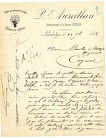 47  LAVARDAC  VINS SPIRITUEUX  L AUREILLAN   -    1888  LETTRE COMMERCIALE - Alimentaire