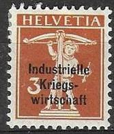 Switzerland War Economy Official Stamp Mh * Signed 4 Euros - Dienstzegels