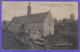 Carte Postale 29. Locronan  La Chapelle De N.D. De Bonne Nouvelle  Fontaine St-Renan Très Beau Plan - Locronan