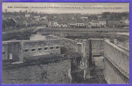 Carte Postale 29. Concarneau  Chemin De Ronde  Fortifications Très Beau Plan - Concarneau