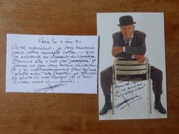 2 AutographeS Sur Photo ACTEUR ANDRE POUSSE - Autografi