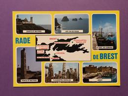 29  CPSM   Rade De BREST   Contour Géographique Et Sites Illustrés     Très Bon état - Brest