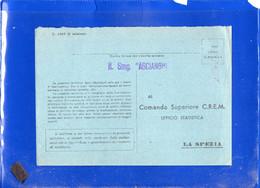 ##(DAN2101)-Italia -Regio Sommergibile Ascianghi, Lineare Su Cartolina In Franchigia Per La Spezia -submarine-U-boat - Military Mail (PM)