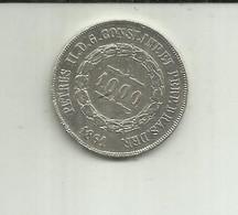 S-1000 Réis 1861 Brasil Silver - Brazil