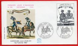 FDC CARROUSEL SOUS LOUIS XIV VERSAILLES 14 1 1978 - 1970-1979