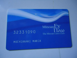 GREECE CARDS   MINOAN SHIPS CLUB    2  SCAN - Barcos