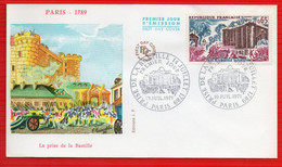 FDC PARIS 1789 PRISE DE LA BASTILLE  10 7 1971 - 1970-1979