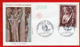 FDC CATHEDRALE DE STRASBOURG ANGE A LA CROIX  23 1 1971 - 1970-1979