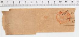 """Partiel Bande Journal Avec Cachet Postal Rouge """" Imprimés Paris 24 DEC 79 """" ( An 1879 ) 241/16 - Newspapers"""