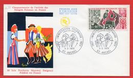 FDC IMMIGRATION POLONAISE  AUCHEL 3 2 1973 - 1970-1979