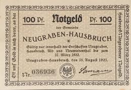 Sza.20 - Germany 1921 Notgeld Banknote 100 Pfennig Neugraben-Hausbruch Grabowski/Mehl 939.1a-4/4 UNC - [11] Local Banknote Issues