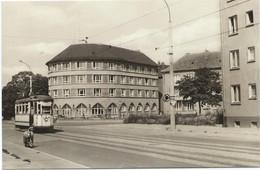 Halberstadt Harz Tram Tramway Strassenbahn Trolley Heinrich Heine Platz 60s - Halberstadt